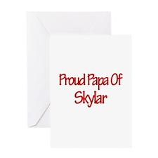 Proud Papa of Skylar Greeting Card