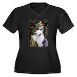 Ophelia / OES Women's Plus Size V-Neck Dark T-Shir