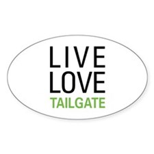 Live Love Tailgate Oval Decal