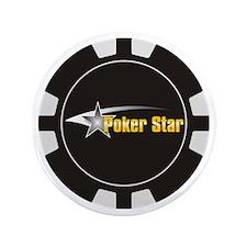 "Poker Shooting Star 3.5"" Button"