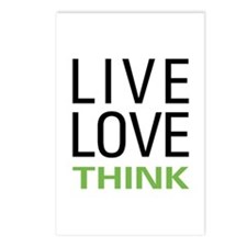 Live Love Think Postcards (Package of 8)