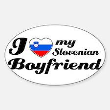 I love my Slovenian Boyfriend Oval Decal