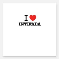 "I Love INTIFADA Square Car Magnet 3"" x 3"""