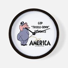 Trickle Down 2c Wall Clock
