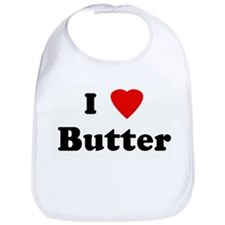 I Love Butter Bib