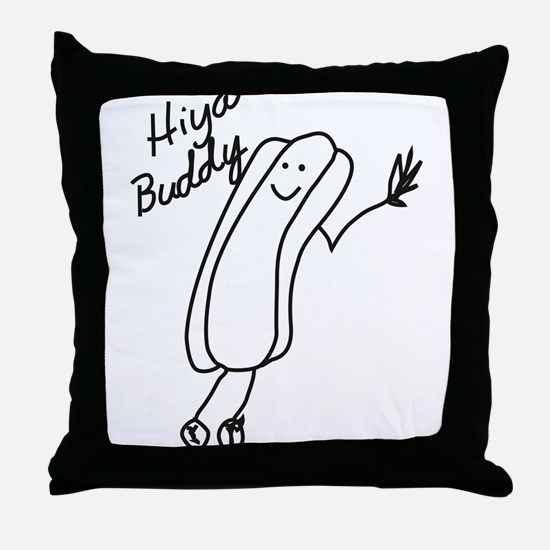Funny Hot dog Throw Pillow