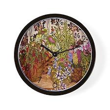Flower Baskets Wall Clock
