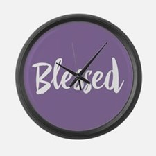 Blessed Large Wall Clock