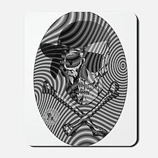 Moire Op Art Pirate Mousepad