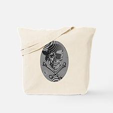 Moire Op Art Pirate Tote Bag