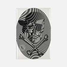 Moire Op Art Pirate Rectangle Magnet (10 pack)