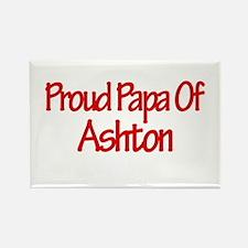 Proud Papa of Ashton Rectangle Magnet