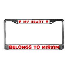 Heart Belongs to Miriam - License Plate Frame