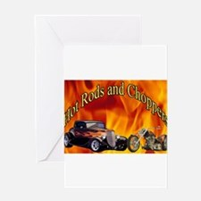 Hot Rods and Choppers Greeting Card