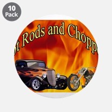 "Hot Rods and Choppers 3.5"" Button (10 pack)"