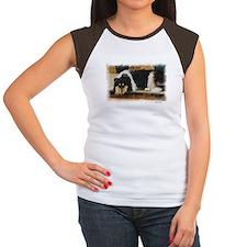 Tri Color Collie Women's Cap Sleeve T-Shirt