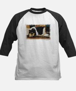 Tri Color Collie Kids Baseball Jersey