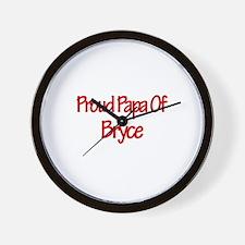 Proud Papa of Bryce Wall Clock