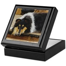 Tri Color Collie Keepsake Box