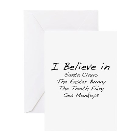 I Believe In Greeting Card