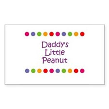 Daddy's Little Peanut Rectangle Decal