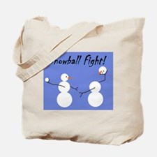 Snowball Fight! Tote Bag
