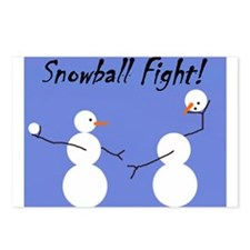 Snowball Fight! Postcards (Package of 8)