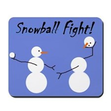 Snowball Fight! Mousepad