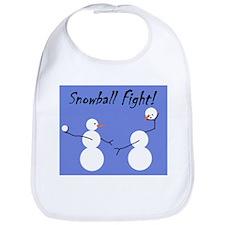 Snowball Fight! Bib