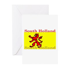 South Holland Flag Greeting Cards (Pk of 10)