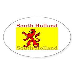 South Holland Flag Oval Decal