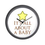 about a baby Wall Clock