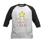 about a baby Kids Baseball Jersey