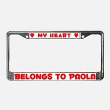Heart Belongs to Paola - License Plate Frame