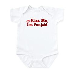 Kiss Me, I'm Punjabi. Infant Bodysuit