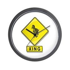 Zebra XING Wall Clock