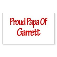 Proud Papa of Garrett Rectangle Decal