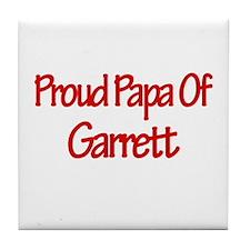 Proud Papa of Garrett Tile Coaster