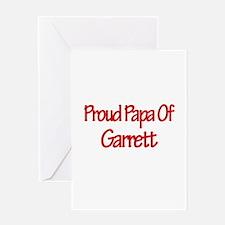 Proud Papa of Garrett Greeting Card