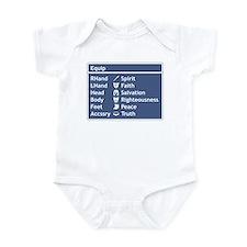 Armor of God Equip Screen Infant Bodysuit