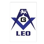 Masonic Leo Postcards (Package of 8)