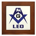 Masonic Leo Framed Tile