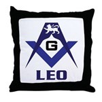 The Masonic Leo Throw Pillow