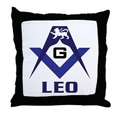 The Masonic Leo Throw Pillow