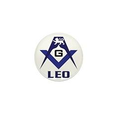 Masonic Leo Mini Button