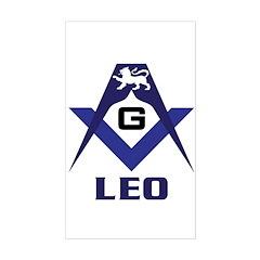 Masonic Leo Rectangle Decal