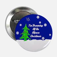 """An Alpaca Christmas 2.25"""" Button"""