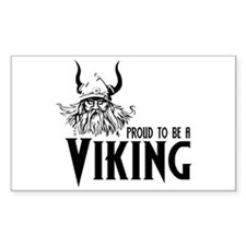 Proud to be a Viking Rectangle Decal