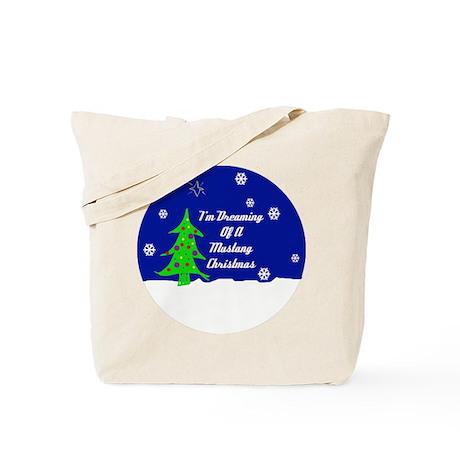 A Mustang Christmas Tote Bag