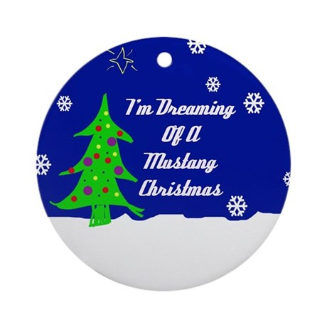 A Mustang Christmas Ornament (Round)